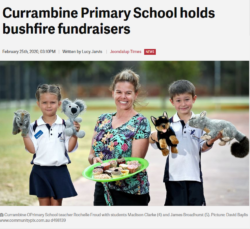 Currambine Primary School holds bushfire fundraisers